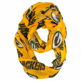 Green Bay Packers Sheer Infinity Fashion Scarf Alternate