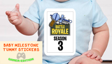 Rattle Royale Baby Milestone Tummy Sticker Monthly Set For Gamers