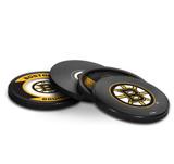 Boston Bruins Real Hockey Puck Coasters Set