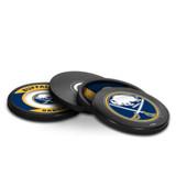 Buffalo Sabres Real Hockey Puck Coasters Set
