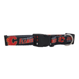 Calgary Flames Dog Pet Adjustable Nylon Logo Collar