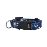 Edmonton Oilers Dog Pet Adjustable Nylon Logo Collar