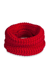 fabdog Dog Cat Knit Infinity Scarf Red