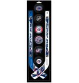 Columbus Blue Jackets Knee Hockey Mini Stick Foam Puck Set
