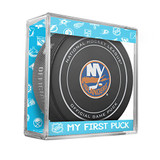 New York Islanders My First Official Puck In Case Baby Boy Blue