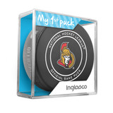 Ottawa Senators My First Official Puck In Case Baby Boy Blue