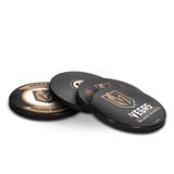 Vegas Golden Knights Real Hockey Puck Coasters Set