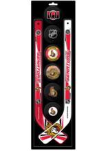 Ottawa Senators Knee Hockey Mini Stick Foam Puck Set