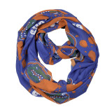 Florida Gators Paint Spatter Infinity Scarf