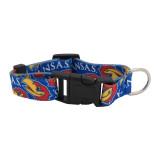 Kansas Jayhawks Dog Pet Adjustable Nylon Logo Collar
