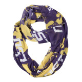 Louisiana State LSU Tigers Paint Spatter Infinity Scarf