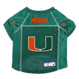 Miami Hurricanes Dog Pet Premium Alternate Mesh Football Jersey LE