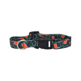 Miami Hurricanes Dog Pet Adjustable Nylon Logo Collar