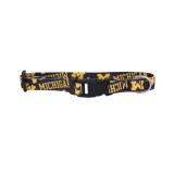 Michigan Wolverines Dog Pet Adjustable Nylon Logo Collar