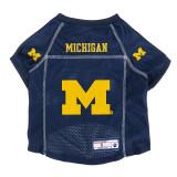 Michigan Wolverines Dog Pet Premium Alternate Mesh Football Jersey LE