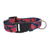 Mississippi Ole Miss Rebels Dog Pet Adjustable Nylon Logo Collar