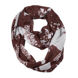 Mississippi State Bulldogs Paint Spatter Infinity Scarf