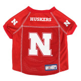 Nebraska Huskers Dog Pet Premium Alternate Mesh Football Jersey LE