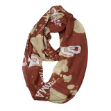 Oklahoma Sooners Paint Spatter Infinity Scarf