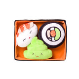 Sushi Bento Box Dog Toy Set 4pc Plush With Squeakers
