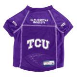 TCU Horned Frogs Dog Pet Premium Alternate Mesh Football Jersey LE