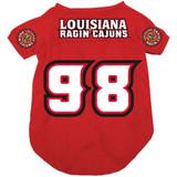 Louisiana Lafayette Ragin' Cajuns Dog Pet Mesh Football Jersey