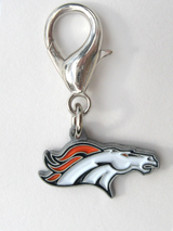 Denver Broncos Premium Dog Cat Collar Charm