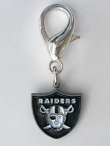 Oakland Raiders Premium Dog Cat Collar Charm