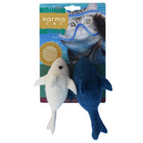 Natural Cat Toy Dolphin 2pk Non-Toxic