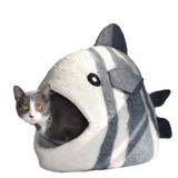 Natural Wool Fish Cave Cat Bed Artisan