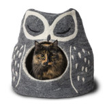Natural Wool Owl Cave Cat Bed Artisan