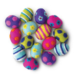 Natural Easter Eggs Cat Toy 3pk Non-Toxic