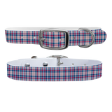 Spring Plaid Premium Dog Collar Odor Proof Waterproof Antimicrobial