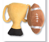 Football & Trophy Cat Toy Plush Champ Set Premium Catnip