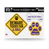 LSU Louisiana State Tigers Pet Dog Magnet Set Beware Fan