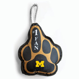 Michigan Wolverines Number One Fan Dog Pet Toy