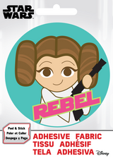 Princess Leia Rebel Star Wars Fabric Badge Sticker