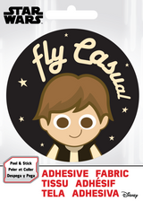 Han Solo Fly Casual Star Wars Fabric Badge Sticker