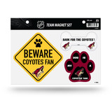 Arizona Coyotes Pet Dog Magnet Set Beware Fan