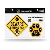 Boston Bruins Pet Dog Magnet Set Beware Fan