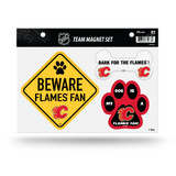 Calgary Flames Pet Dog Magnet Set Beware Fan