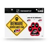 Carolina Hurricanes Pet Dog Magnet Set Beware Fan