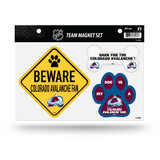 Colorado Avalanche Pet Dog Magnet Set Beware Fan