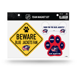 Columbus Blue Jackets Pet Dog Magnet Set Beware Fan