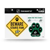 Dallas Stars Pet Dog Magnet Set Beware Fan