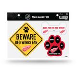 Detroit Red Wings Pet Dog Magnet Set Beware Fan