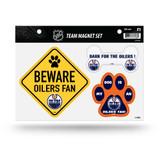 Edmonton Oilers Pet Dog Magnet Set Beware Fan