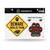 Minnesota Wild Pet Dog Magnet Set Beware Fan