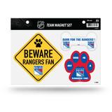 New  York Rangers Pet Dog Magnet Set Beware Fan