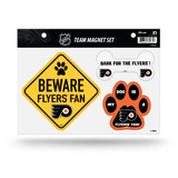 Philadelphia Flyers Pet Dog Magnet Set Beware Fan